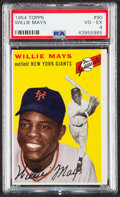 Baseball Cards:Singles (1950-1959), 1954 Topps Willie Mays #90 PSA VG-EX 4....