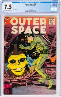 Outer Space #20 (Charlton, 1958) CGC VF- 7.5 Off-white to white pages