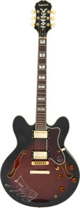 Music Memorabilia:Autographs and Signed Items, B.B. King Signed Epiphone Sheraton II Guitar SN #00030078....
