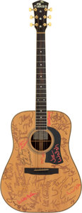 Music Memorabilia:Autographs and Signed Items, Willie Nelson/Joe Walsh and Friends Signed Farm Aid Mossman DR-10 Acoustic Guitar SN #86-040 (circa late 1980s)....