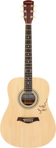 Musical Instruments:Acoustic Guitars, Lindsey Buckingham Signed Crestwood Guitar Model # 2010N. ...