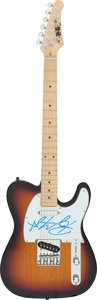 Musical Instruments:Electric Guitars, Ray Manzarek/The Doors Signed R&B Special Guitar. ...