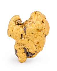 Gold Nugget Fort Jones, Oro Fino Mining District Klamath Mts, Siskiyou Co. California, USA 0.72 x 0.55 x 0.36 inches (...