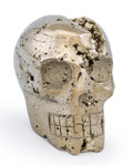 Lapidary Art:Carvings, Pyrite Skull. Peru. 2.67 x 1.78 x 2.67 inches (6.78 x 4.52 x 6.77 cm). ...