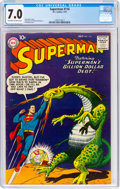 Silver Age (1956-1969):Superhero, Superman #114 (DC, 1957) CGC FN/VF 7.0 Off-white to white pages....