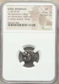 Ancients: GAUL. Bituriges. Ca. 100-50 BC. AR quinarius (15mm, 1.86 gm, 6h). NGC VF 2/5 - 4/5