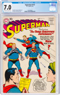 Silver Age (1956-1969):Superhero, Superman #115 (DC, 1957) CGC FN/VF 7.0 Off-white to white pages....