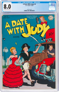 A Date With Judy #4 (DC, 1948) CGC VF 8.0 Off-white to white pages