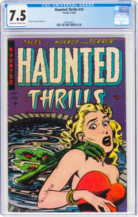 Haunted Thrills #14 (Farrell, 1954) CGC VF- 7.5 Off-white to white pages