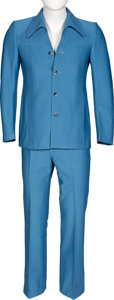 Music Memorabilia:Costumes, Keith Moon/ The Who Owned and Worn Marshall & Reed Light Blue Suit. ...