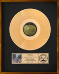 Music Memorabilia:Awards, The Beatles Abbey Road RIAA Gold Sales Award (1969)....
