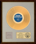 Music Memorabilia:Awards, The Rolling Stones Beggars Banquet White Matte RIAA Gold Sales Award Presented to Mick Jagger (1968). ...