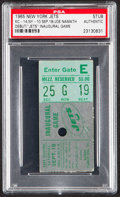 Football Collectibles:Tickets, 1965 Jets vs. Chiefs Ticket Stub, PSA Authentic - Namath NFL Debut/1st TD Pass & Jets Inaugural Home Game!...
