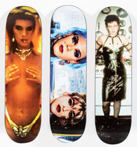 Supreme X Nan Goldin Misty and Jimmy, Rhinestone, and Dominatrix, set of three, 2018 Offset lithographs in colors on s...