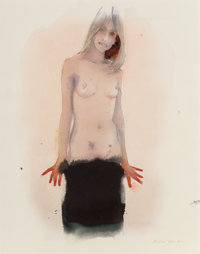 Martin Eder (b. 1968) Me Woman 175, 2001 Watercolor and pencil on paper 11-1/8 x 8-5/8 inches (28