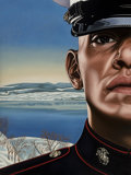 Paintings, Richard Phillips (b. 1962). Message Force Multiplier, 2009. Oil on canvas. 78 x 58-1/2 inches (198.1 x 148.6 cm). ...