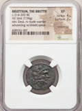 Ancients:Greek, Ancients: BRUTTIUM. The Brettii. Ca. 214-203 BC. AE unit or drachm (22mm, 7.94 gm, 4h). NGC XF 4/5 - 2/5, smoothing...