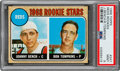 Baseball Cards:Singles (1960-1969), 1968 Topps Johnny Bench - Reds Rookies #247 PSA Mint 9....