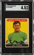 Football Cards:Singles (Pre-1950), 1933 Sport Kings Jim Thorpe #6 SGC VG/EX+ 4.5....
