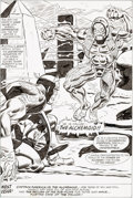 Original Comic Art:Panel Pages, Frank Robbins and Frank Chiaramonte Captain America #187 Page 31 Splash Page Original Art (Marvel Comics, 1975)....