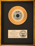 """Music Memorabilia:Awards, War """"Why Can't We Be Friends?"""" RIAA Gold Record Sales Award (United Artists, 1975)...."""