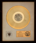 Music Memorabilia:Awards, Nitty Gritty Dirt Band Will the Circle Be Unbroken RIAA White Matte Gold Record Sales Award (United Artists, 1972)...