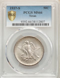 Commemorative Silver, 1937-S 50C Texas MS66 PCGS. PCGS Population: (535/142). NGC Census: (458/115). CDN: $220 Whsle. Bid for problem-free NGC/PC...