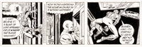 Larry Lieber and Stan Lee The Amazing Spider-Man Daily Comic Strip Original Art dated 8-5-92 (King Features Syndic
