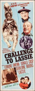 """Movie Posters:Adventure, Challenge to Lassie & Other Lot (MGM, 1949). Folded, Fine/Very Fine. Inserts (2) (14"""" X 36""""). Adventure.. ... (Total: 2 Items)"""