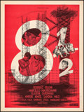 "Movie Posters:Foreign, 8½ (Columbia, 1963). Very Fine- on Linen. French Moyenne (23.5"" X 31.5""). Foreign.. ..."
