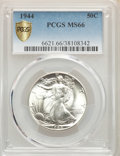 Walking Liberty Half Dollars: , 1944 50C MS66 PCGS. PCGS Population: (1432/127). NGC Census: (925/89). MS66. Mintage 28,206,000. ...