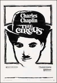 "The Circus (United Artists, R-1970). Very Fine on Linen. One Sheet (27.75"" X 41""). Comedy"