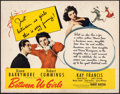 "Movie Posters:Drama, Between Us Girls (Universal, 1942). Rolled, Fine+. Half Sheet (22"" X 28""). Drama.. ..."