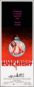 "Movie Posters:Horror, Silent Night, Evil Night (Warner Brothers, 1974). Rolled, Very Fine+. Insert (14"" X 36""). Horror.. ..."