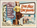"""Movie Posters:Bad Girl, Live Fast, Die Young (Universal International, 1958). Fine/Very Fine on Linen. Half Sheet (22"""" X 28.25""""). Bad Girl.. ..."""