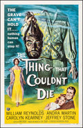 "Movie Posters:Horror, The Thing That Couldn't Die (Universal International, 1958). Fine/Very Fine on Linen. One Sheet (27"" X 41.25""). Reynold Brow..."