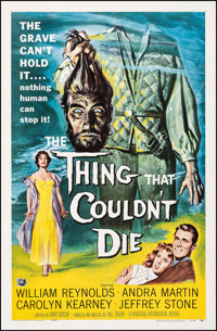 "The Thing That Couldn't Die (Universal International, 1958). Fine/Very Fine on Linen. One Sheet (27"" X 41.25"")..."