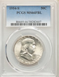 1954-S 50C MS66 Full Bell Lines PCGS. PCGS Population: (166/7). NGC Census: (14/1). CDN: $750 Whsle. Bid for problem-fre...