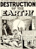 "Original Comic Art:Complete Story, Al Feldstein Weird Science #14 Complete 8-Page Story ""Destruction of the Earth!"" Original Art (EC, 1950).... (Total: 8 Original Art)"