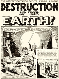 "Al Feldstein Weird Science #14 Complete 8-Page Story ""Destruction of the Earth!"" Original Art (EC, 1950).... (..."