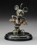 Desmo Mickey Mouse Enameled and Chromium Automobile Mascot, circa 1934 4-3/4 inches (12.1 cm) (excluding base)