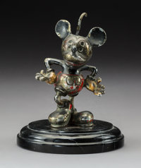 Desmo Mickey Mouse Enameled and Chromium Automobile Mascot, circa 1934 4-3/4 inch