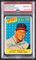 Autographs:Sports Cards, Signed 1958 Topps All Star Stan Musial #476 PSA/DNA Gem MT 10. ...