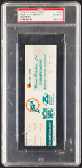 Football Collectibles:Tickets, 1972 AFC Championship Game Full Phantom Ticket, PSA Authentic - Pop One with None Higher!...