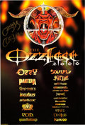 Music Memorabilia:Autographs and Signed Items, Ozzy Osbourne Signed Ozzfest Poster (2000). ...