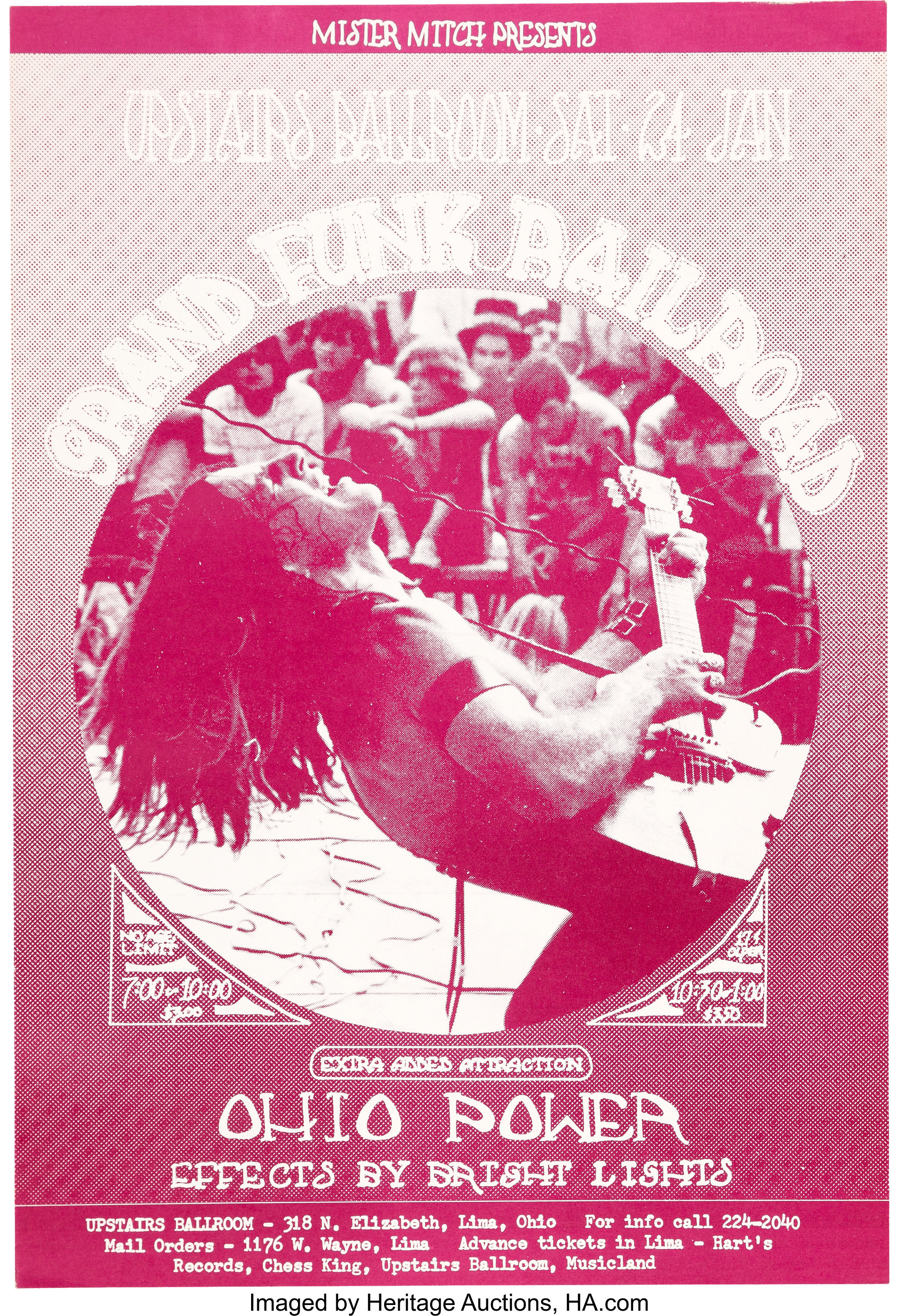 1968 Movie Poster Grand Funk Railroad