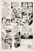 Original Comic Art:Panel Pages, Dick Dillin and Tex Blaisdell World's Finest Comics #228 Story Page Original Art Superman (DC Comics, 1975)...