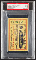 Football Collectibles:Tickets, 1945 East-West Shrine Classic Ticket Stub, PSA VG-EX 4 - Pop One with None Higher!...