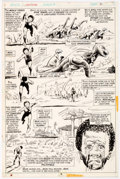 Original Comic Art:Panel Pages, Billy Graham Jungle Action #17 Story Page 4 Original Art (Marvel Comics, 1976)...