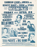 Music Memorabilia:Posters, Harry Belafonte 1960 New York Concert Handbill to Benefit Rev. Martin Luther King...